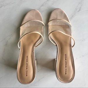 Who What Wear clear block heels